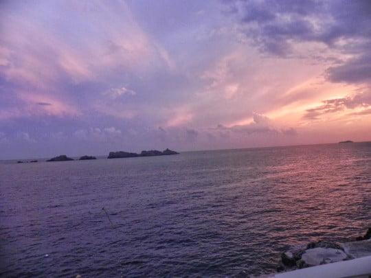 dubrovnik pink sky