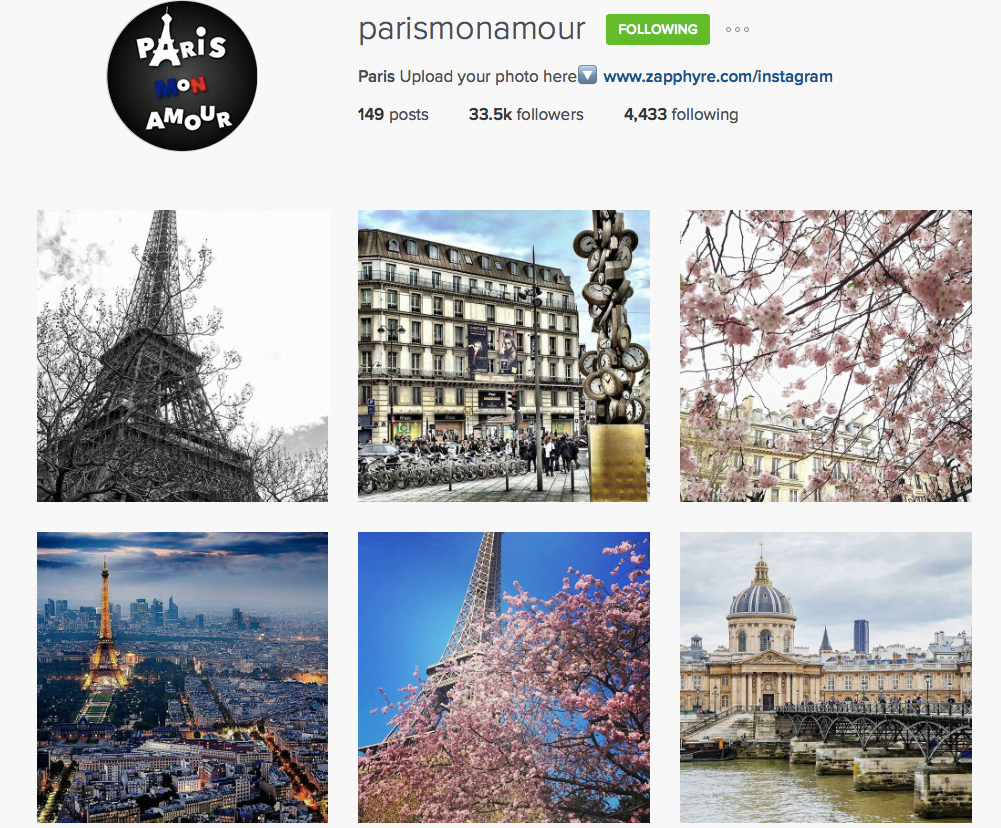 Paris MonAmour Instagram