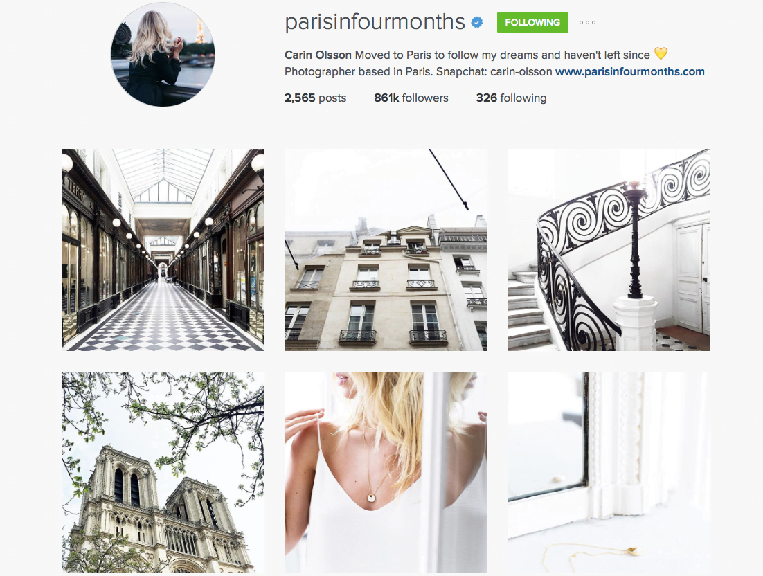 paris in four months instagram