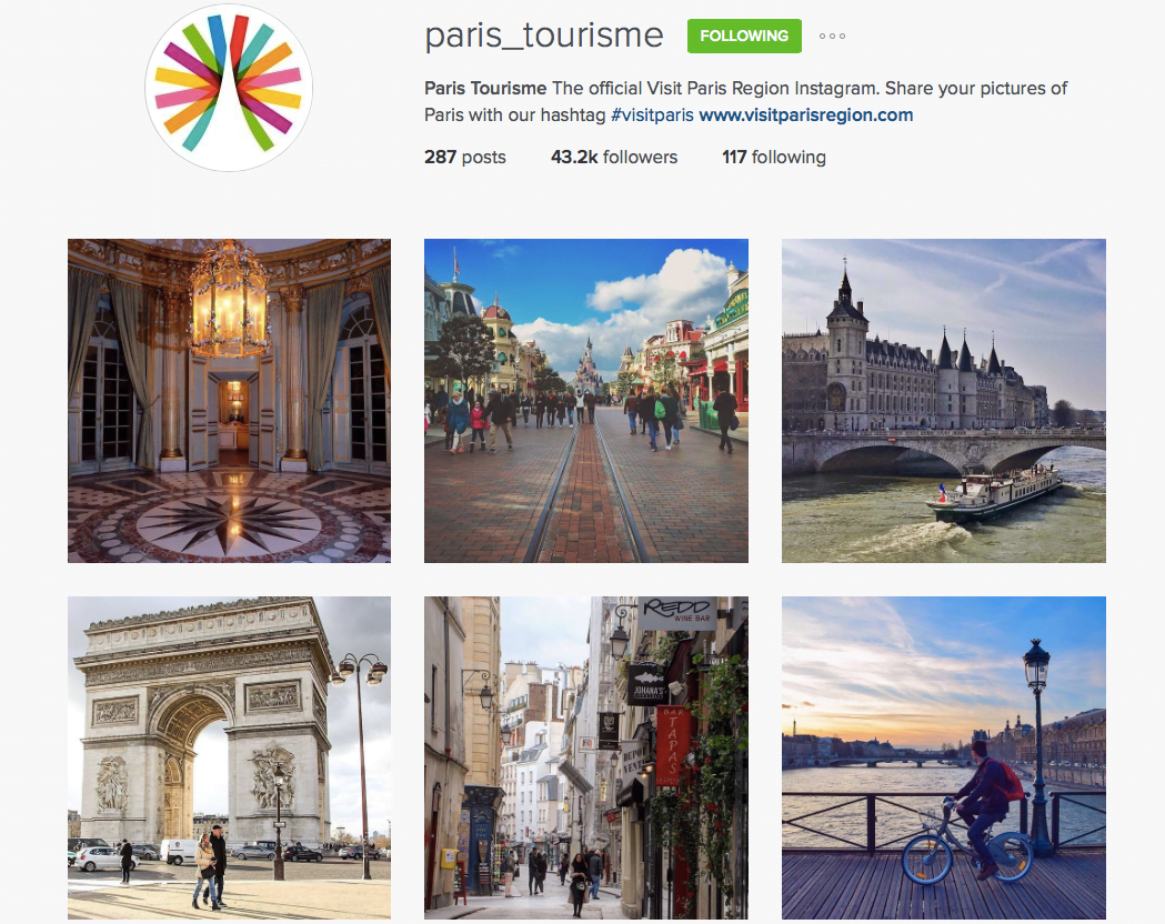 paris tourisme instagram