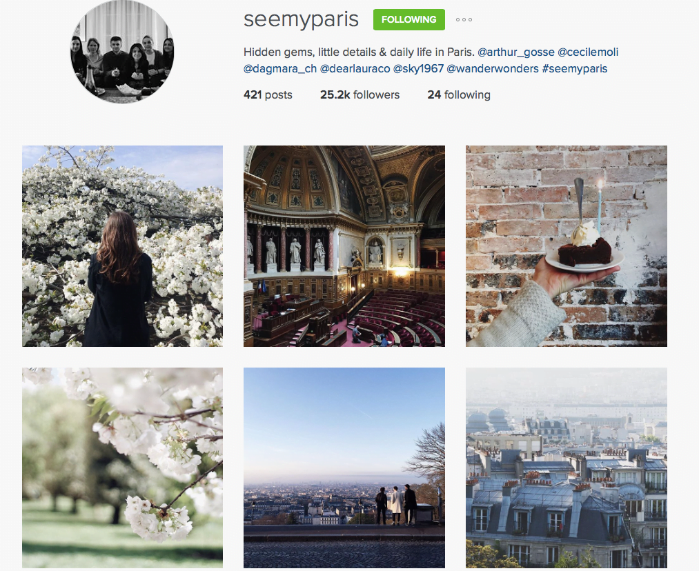 see my paris instagram